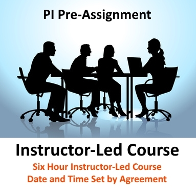 PI-PreAssignment-Instructor Training